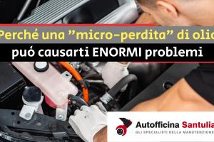 perdita olio motore freni cambio ammortizzatori manutenzione auto